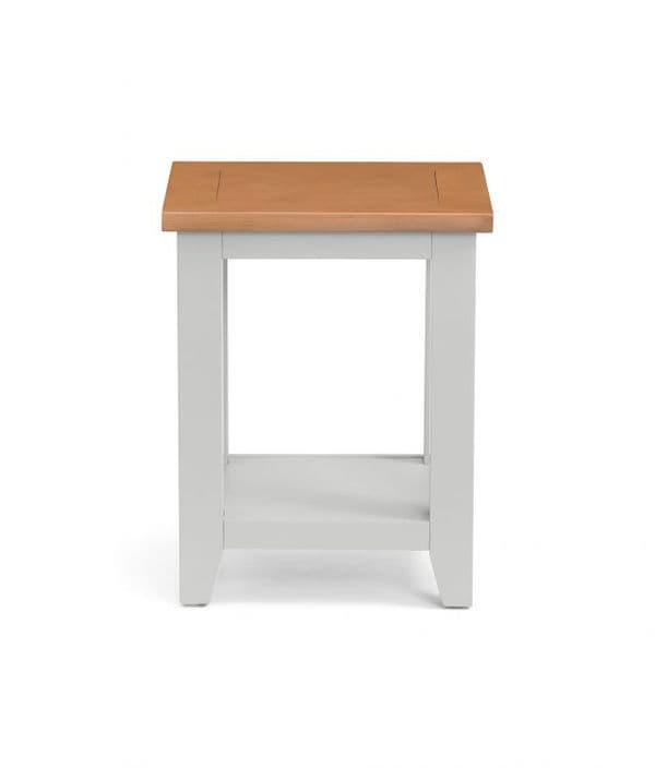 Bordighera 2-Tone Grey And Oak Lamp Table 18JB443